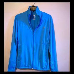 Adidas Jacket Turquoise Blue NWOT Zips Size Large